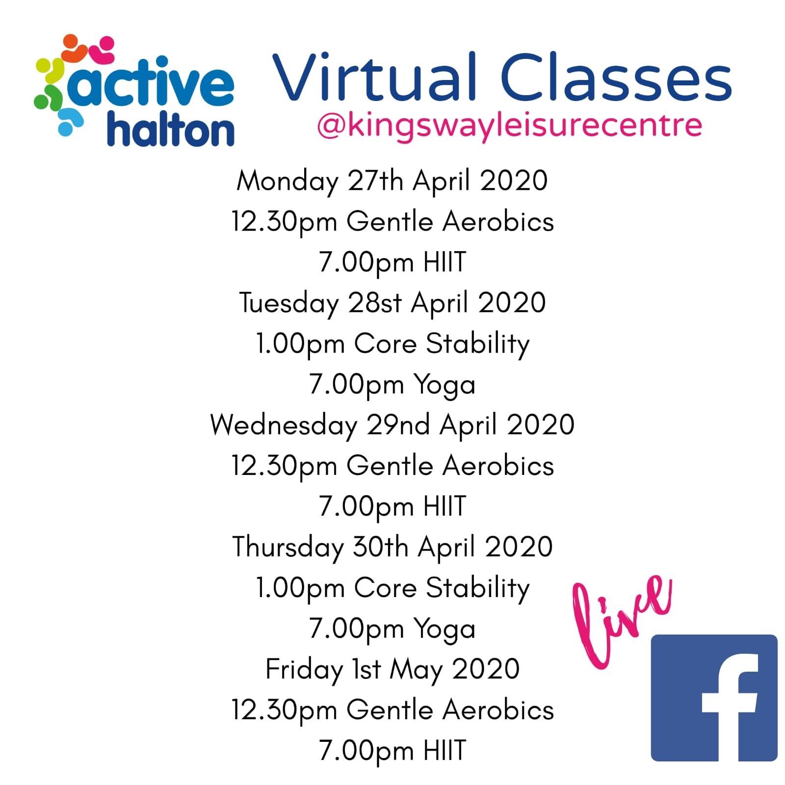Active Halton virtual classes